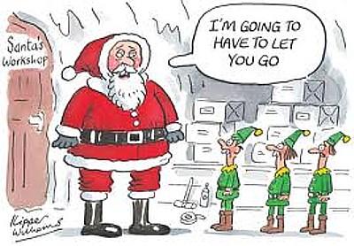 サンタさんエルフに婉曲にクビを伝える